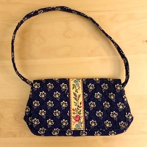 VERA BRADLEY Mini Shoulder Bag in Navy Blue